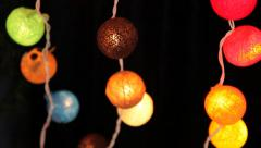 Many garlands of glowing balls. Input Stock Footage