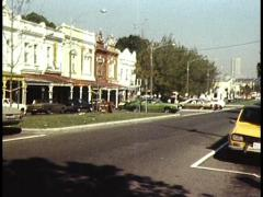 Melbournes Historic Old Homes Stock Footage