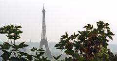 Eiffel Tower in Paris, France, 4K Stock Video Footage Stock Footage