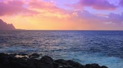 Hanalei Beach Sunset - stock footage