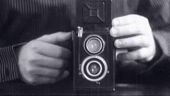 Camera Photographer old movie effects Stock Footage