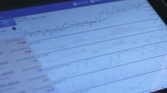 Business stock market - stock footage