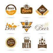 Beer icon set  Stock Illustration