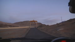 Traveling by car in Indian Ladakh (Jammu and Kashmir) from car POV #6 Stock Footage