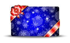 Greeting-card with a red bow Stock Illustration