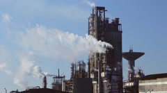 Chemical processing plant Stock Footage