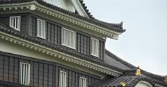 Traditional Roof of Okayama Castle Stock Footage