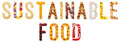 Sustainable Food Word Concept - stock photo