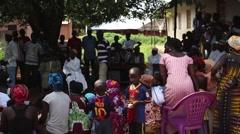 Africa village meeting Guinea Bisseau Stock Footage