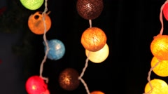 Many garlands of glowing balls. Stock Footage