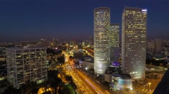 Time lapse Skyline - Tel Aviv Israel - stock footage