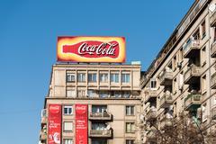 Coca-Cola Advertising - stock photo