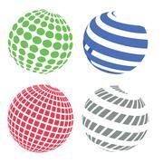 sphere icons - stock illustration
