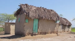 Farmer's Hut in Haiti - stock footage