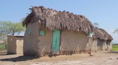 Haitian Adobe Home Stock Footage