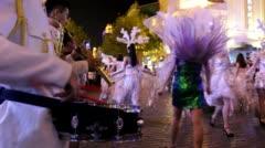 Makeup  parade in Harbin central avenue Stock Footage