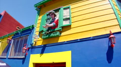 Buenos Aires - Boca Colorful House 12 Stock Footage