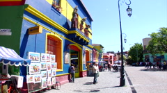 Buenos Aires - Boca Street Scene 11 Stock Footage