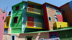 Buenos Aires - Boca Houses Stock Footage