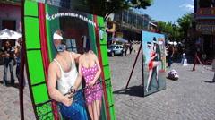 Buenos Aires - Boca Street Art Stock Footage