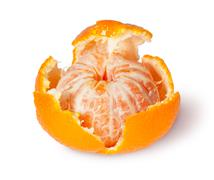 partially purified tangerine - stock photo