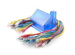 Home Network. Clipping path included. Stock Photos