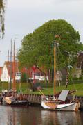 vintage sailboat - stock photo
