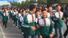 Athletes runtime in  footrace,Asia Stock Footage