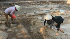 Archaeological excavations at Asia Stock Footage