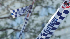 Police crime scene 4K Stock Footage