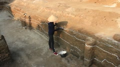 Archaeological excavations at the Asia Stock Footage