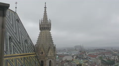 Vienna Stephen's Cathedral north tower _1 4K Stock Footage