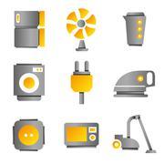 Household icons Stock Illustration
