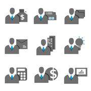 business person, business management icons - stock illustration