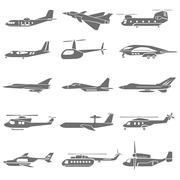 Fighting plane Stock Illustration