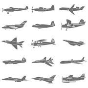 fighting plane - stock illustration