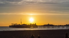 Brighton timelapse Stock Footage