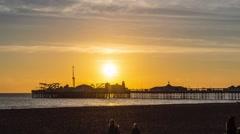 Brighton timelapse - stock footage
