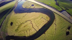 Seven Sisters National Park, Cuckmere river Stock Footage