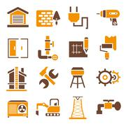 Onstruction icons Stock Illustration