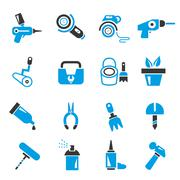 Garden tools icons Stock Illustration