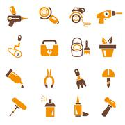 Stock Illustration of garden tools icons