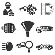 Automotive icons, car parts Piirros