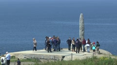 The Pointe du Hoc Memorial, Pointe du Hoc, Normandy, France. Stock Footage