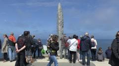 Pointe du Hoc memorial, Pointe du Hoc, Normandy, France. Stock Footage