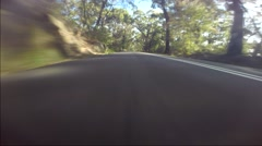 fast drive on scenic road - stock footage