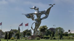 The World Peace Statue, Grandcamp Maisy, Normandy, France. Stock Footage