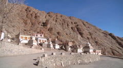 Hemis Monastery in Ladakh, Jammu and Kashmir, India Stock Footage