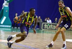Turkish airlines euroleague game budivelnik vs fenerbahce ulker Stock Photos