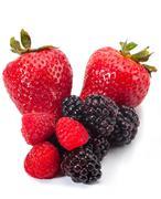 berry medley - stock photo